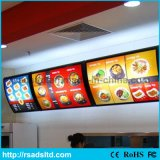 Fast Food Advertising Aluminum LED Menu Board Light Box Sign