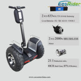 Brushless 4000W 72V Standing Self Balancing Electric Chariot Golf Scooter