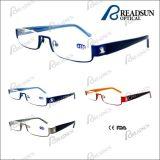 2015 Hot Half-Rim Stainless Steel Reading Glasses (RM370026)