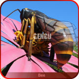 Theme Park Beautiful Artificial Insect Model Animatronic Bee