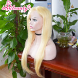 100% Virgin Human Hair Blonde Full Lace Wig with Band