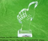 Customized Clear Acrylic Crystal Souvenir Medal Awards