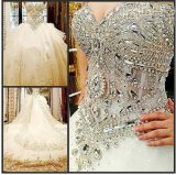 2016 New Strapless Crystal Bridal Wedding Dresses Rfl001