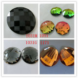 Round Glass Stone for Rings and Earrings