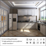L Shape Plain White Kitchen Cabinet (ZH3248)