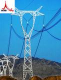 Round Galvanized Steel Pole Transmission Tower