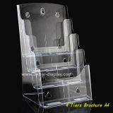 Clear Plastic Wall Mount 4 Layer A4 Brochure Holder (BTR-H6050)