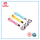 Stainless Steel Baby Spoons Cartoon with Silk Screen Printing