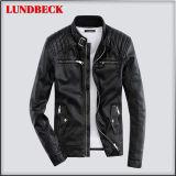 Black Winter PU Jacket for Men in Wind-Proof