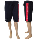 Custom Men′s Red Printed Striped Polyester Sport Shorts
