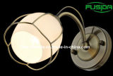 2014 New Design Round Glass Square Iron Wall Light