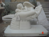 White Marble Little Angle Sculpture / Statue / Carving