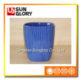 Blue Ceramic Flowerpot of Gyp068