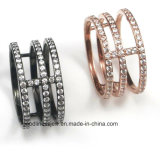 Fashion Jewelry with AAA CZ 925 Sterling Silver Ring Jewelry (R0137PY)