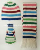 100%Acrylic High Quality Knit Hat Scarf Set