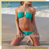 Women Latest Nylon Swimwear Bikini Turquoise Blue Swimsuits