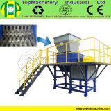Waste Plastic HDPE Bottle/Barrel/Jar/Basket Twin Shaft Shredder