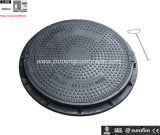 En124 SMC 650 Mm Rain Water Manhole Cover for Road Facility
