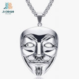 Custom Gloss Silver V Metal Charm and Pendant with Necklace (JIABO-DZ1066)