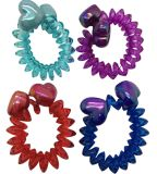 Assorted Colors and Materials with Printings Telephone Cord Hair Accessories