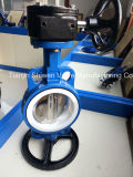 Ductile Iron PTFE Seat Wafer Butterfly Valve with Gear Actuator
