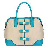 Classic Contrast Color Metal Details Tote Handbags (MBLX031066)