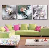 3 Panel Wall Art Oil Painting Lotus Painting Home Decoration Canvas Prints Pictures for Living Room Framed Art Mc-258