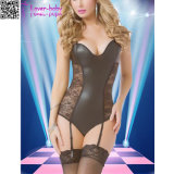 Strappy Black Gartered Sexy Teddy Lingerie L81188