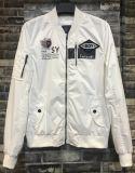 2017 Spring Rib Collar White Bomber Jacket