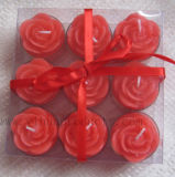 Flower Shape Tea Light Candle (T016) with Gift Pack