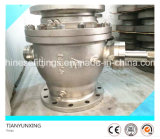 CF8 Cast Stainless Steel Hand Wheel Flanged Trunnion Ball Valve