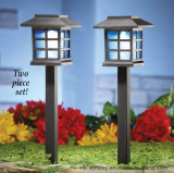 Solar Garden Lantern Stake Lights, Warm White LED