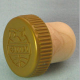 Embossed Top Logo Synthetic Cork Wine Stopper