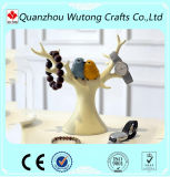 Resin Lady′s Gifts Tree Design with Bird Jewellery Holder Room Decoration