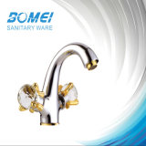 Double Handle Bath Mixer Brass Body Brass Cartridge Faucet (BM56103)