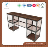 Low Wall Display Shelving Unit with Casters