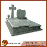 Natural Polished Green Granite Tombstone