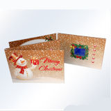 LCD Screen Video Christmas Greeting Card