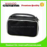 Portable Black Contents PU Makeup Bag Custom Logo with Zipper