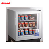 Home Use Small Capacity Glass Door Icecream Vertical Freezer