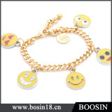 Wholesale Custom Emoji Charm Bracelet in Zinc Alloy Material