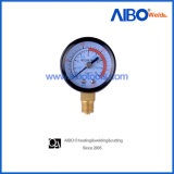 Utility Pressure Gauge with Steel Case and Brass Connector (W17119)