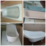 Multifunction Ivory Bathtub, Ceramic Bathtub White