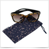 Custom Microfiber Double-Side Drawstring Sunglasses and Cell Phone Pouch