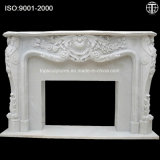 Marble Fireplace Surround Nature Stone Fireplace Carved Fireplace for Home