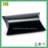 Glossy Black Laminated Paper Pillow Box for Gift Packaging