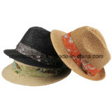 Double Layer Paper Straw Fedora Hats (CPA_60118)