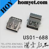 USB 3.0 a Type Male Connector with Copper Cover (US01-688)