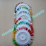 Teardrop, Round, Star, Flower, Leaf, Hert Design Wheel Packing 55mm Colorful Pearlized Head Pin