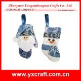 Christmas Decoration (ZY11S142-1-2) Stocking of Chritmas Xmas Sock Manufacturer